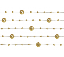 Perliukų girlianda, auksinė (1,3 m)