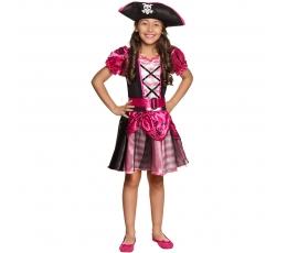 Piraatide kostüüm, roosa (4-6 aastat)
