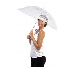 Pitsiline vihmavari, valge