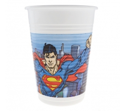 "Plastiktopsid ""Superman""(8 tk / 200 ml)"