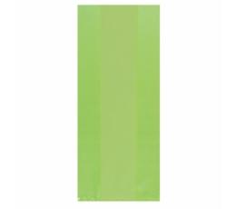 Plastikust salatirohelised kinkekotid (25 tk)