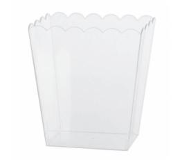 Plastikust suupistete karp, läbipaistev (14x11x15 cm)