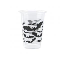 """Plastiktopsid """"Mustad nahkhiired"""" (8 tk./350 ml)"""