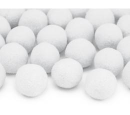 Plüüsist pallid/dekoratsioon, valged (2 cm/20 tk.)