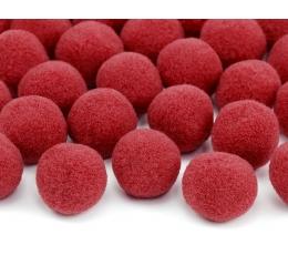Plüüsist pallid/dekoratsioonid, punane (2 cm/20 tk.)