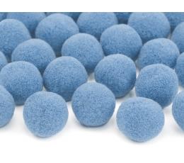 Plüüsist pallid/dekoratsioonid, sinised (2 cm/20 tk.)