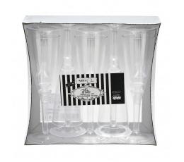 Pokaalid šampusele, läbipaistvad (10 tk)