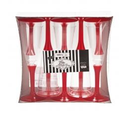 Šampanjapokaalid, punased (10 tk)