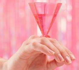 Pokaalid - sõrmused, roosad (6 tk) 1