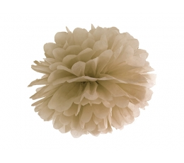 Pom pom pall, helepruun (35 cm)