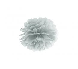 Pom pom pall, hõbedane (25 cm)
