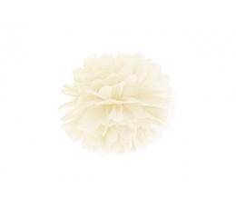 Pom pom pall, kreemjas  (25 cm)