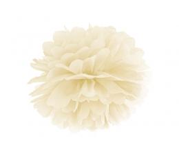 Pom pom pall, kreemjas (35 cm)