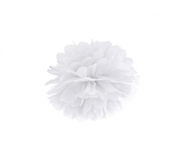 Pom pom pall, valge (25 cm)