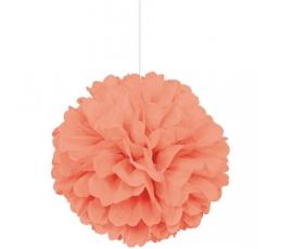 Pom pom pall, virsiku värvi  (40 cm)