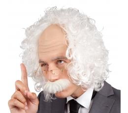 Professori parukas, valge