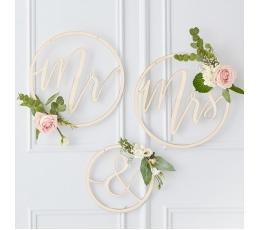 """Puidust kaunistused """"Mr & Mrs"""""""
