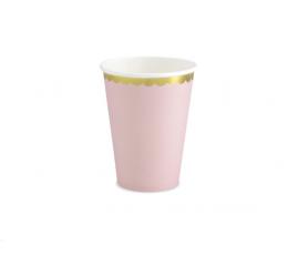 Topsid, roosad kuldse äärisega (6 tk / 220 ml)