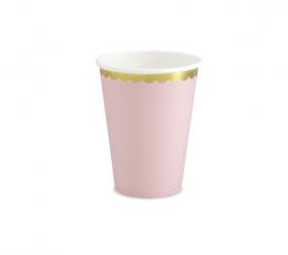 Topsid, roosad kuldse äärisega (6 tk / 220 ml) 0
