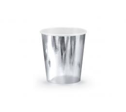 Puodeliai, sidabriniai blizgūs (6 vnt./180 ml)