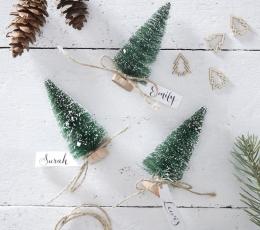"""Minikaunistused-nimekaardid """"Rohelised jõulukuused"""" (6 tk) 1"""