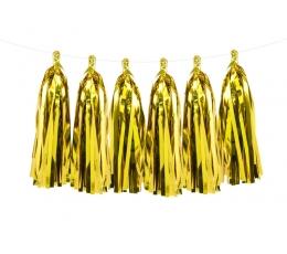 Riputatav dekoratsioon - kuldsed tutikud (1,5 m)