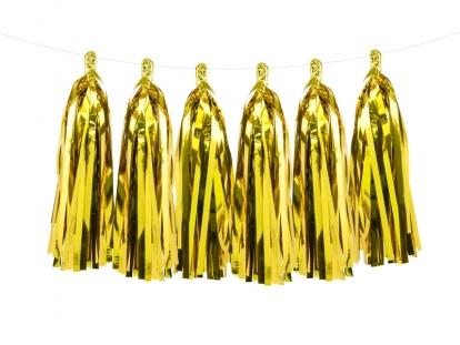 Rippuv dekoratsioon - kuldsed tutikud (1,5 m)
