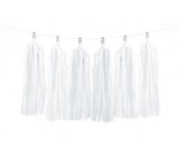 Rippuv dekoratsioon - valged tutikud (1,5 m)