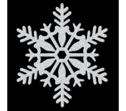 Rippuv läikiv lumehelbekaunistus (28 cm)