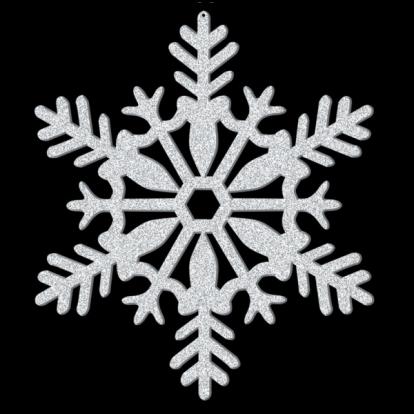 """Riputatav dekoratsioon """"Läikiv lumehelves"""" (28 cm)"""