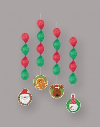 """Rippuvad kaunistused """"Jõulud"""" (4 tk)"""
