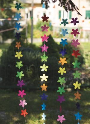 """Rippuvad kaunistused """"Värvilised lilled"""" (2 m)"""