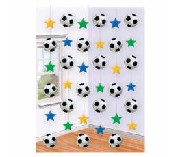 """Riputatav dekoratsioon """"Jalgpall"""" (6 tk.)"""