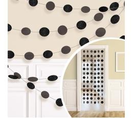 Riputatav dekoratsioon, läikiv must (6 tk./2,13 m)