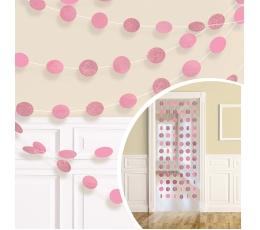 Riputatav dekoratsioon, läikiv roosa (6 tk./2,13 m)