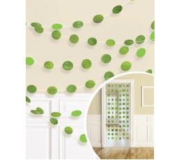 Riputatav dekoratsioon, läikiv salatiroheline (6 tk./2,13 m)