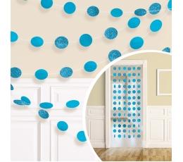 Riputatav dekoratsioon, läikiv sinine (6 tk./2,13 m)