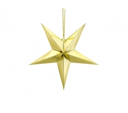 Riputatav dekoratsioon -  läikiv kuldtäht (45 cm)