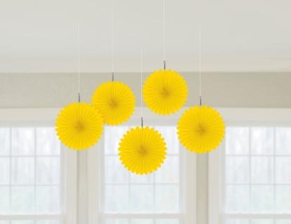 Riputatav dekoratsioon-lehvik, kollane (5 tk)