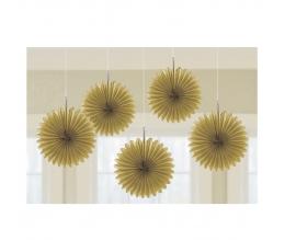 Riputatav dekoratsioon-lehvik, kuldne (5 tk./15 cm)