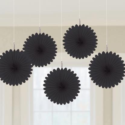 Riputatav dekoratsioon-lehvik, must (5 tk/15 cm)