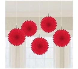Riputatav dekoratsioon-lehvik, punane (5 tk)