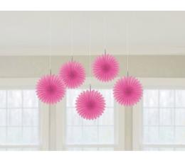 Riputatav dekoratsioon-lehvik, roosa (5 tk)