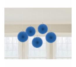 Riputatav dekoratsioon-lehvik, sinine (5 tk)
