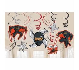 """Riputatav dekoratsioon """"Ninjad"""" (12 tk.)"""