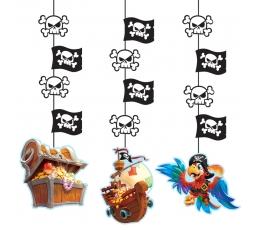 """Riputatav dekoratsioon """"Piraadid merel"""" (3 tk.)"""