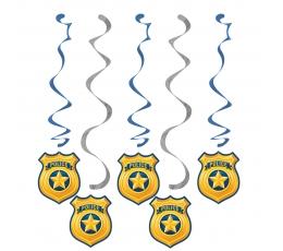 """Riputatav dekoratsioon """"Politseinikud"""" (5 tk.)"""