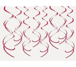 """Riputatav dekoratsioon """"Punased keerud"""" (8 tk.)"""