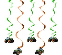 """Riputatav dekoratsioon """"Traktorid"""" (5 tk)"""