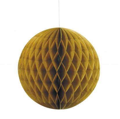 Riputatav paberist pall, kuldne (20 cm)